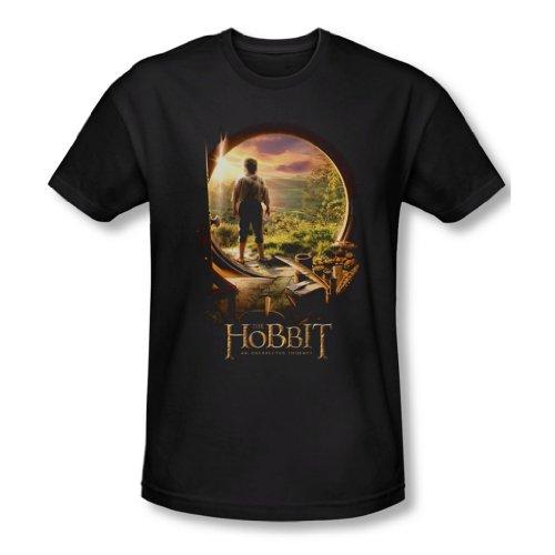 The Hobbit - Herren Hobbit Tür In T-Shirt In Schwarz, X-Large, Black
