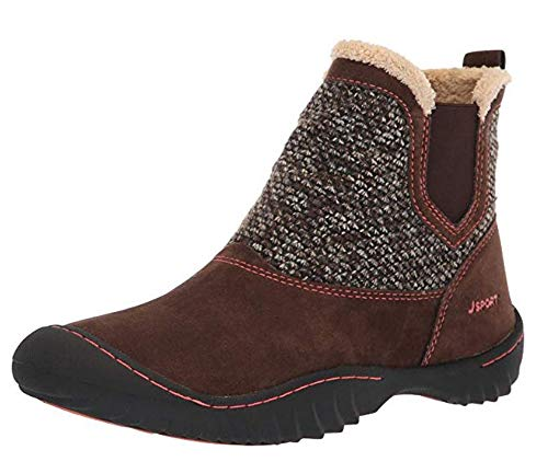 JSport by Jambu Women's Kendall Ankle Boot, Brown, 7.5 Medium US