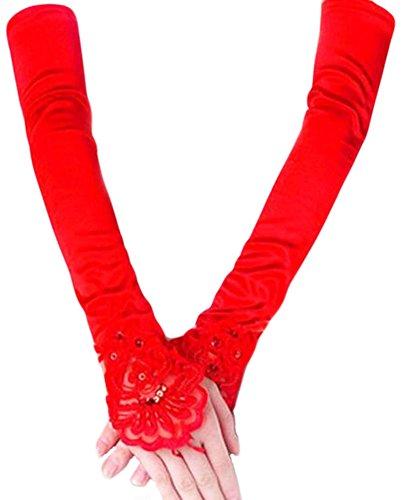 Élégantes Gants de mariage mariée cortège des gants de dentelle de robe-05