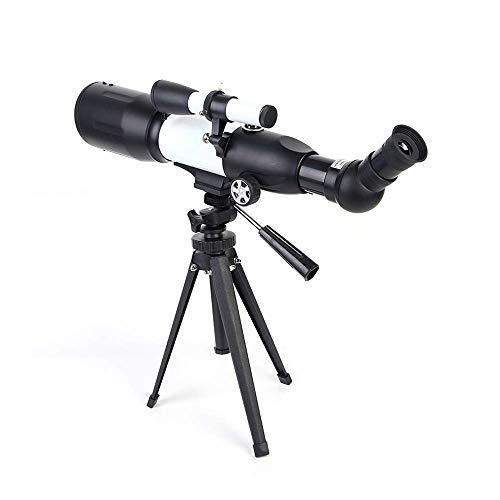 Telescópio Boutique de alta definição para crianças, adultos, iniciantes, abertura de 50 mm, 350 mm, telescópio refrator astronômico AZ BAK4 Prisma FMC para astronomia com tripé e bússola para O