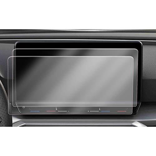[2 unidades] CDEFG para Seat Leon MK4 2020 2021 Protector de Pantalla, HD Auto 4H GPS Navi película protegida PET (10 pulgadas)
