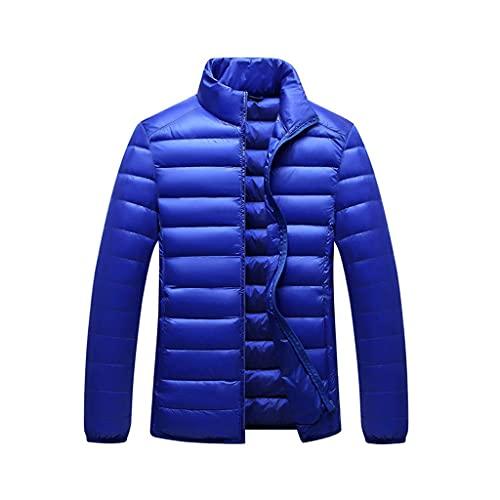 DIAOD Otoño invierno ultra-delgado de la chaqueta abajo Moda collar Soporte bajo peso ligero juvenil Escudo de los hombres delgados de chaquetas (Color : E, Size : XX-Large)
