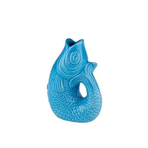 Monsieur Carafon, Fisch, Vase, XS, lagoon, 0,2 Liter