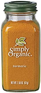 Simply Organic Ground Turmeric Root, Certified Organic | 2.38 oz | Pack of 3 | Curcuma longa L.