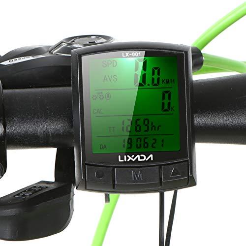 Lixada Computadora de Bicicleta Cuentakilómetros Velocímetro para Bicicleta MTB Bicicleta de Carretera