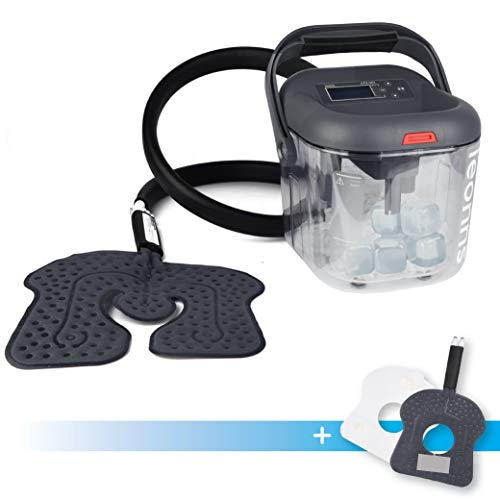 Cold Therapy Machine w/Universal Flexible Pad | Ice Cyrotherapy System for Knee, Shoulder, Back, Hip and More (Universal + Knee Pad + Ice Cubes)
