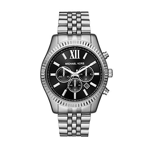 Reloj Michael Kors Lexington para Hombres 44mm, pulsera de Acero Inoxidable