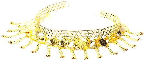 The Turkish Emporium Bauchtanz Schmuck Haarschmuck Haarnadel Haarklammer Zubehör ZIGEUNERIN Karneval Fasching Zigeuner Roma Kostüm mit Münzen Silber/Gold (Gold)