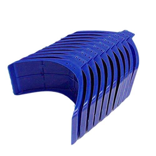 TEHAUX 10 Stück Taubenauflage Ständer Kunststoff Wohnung Taube Barsch Auflage Rahmen Grill Schlafplatz Zubehör Käfig Zubehör für Vogelzubehör Blau