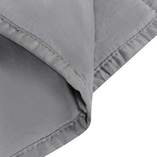 GOPLUS Gewichtsdecke Schwerkraftdecke Schwerkraft-Decke Gewichtete Schwere Decke Beschwerte Decke Schlafdecke aus Baumwolle (122X185CM, 5.5) - 5