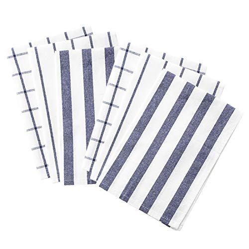 Liuzhou - Juego de 6 servilletas de algodón reutilizables de tela para boda, fiesta, casa, restaurante, paños de vajilla, manteles individuales