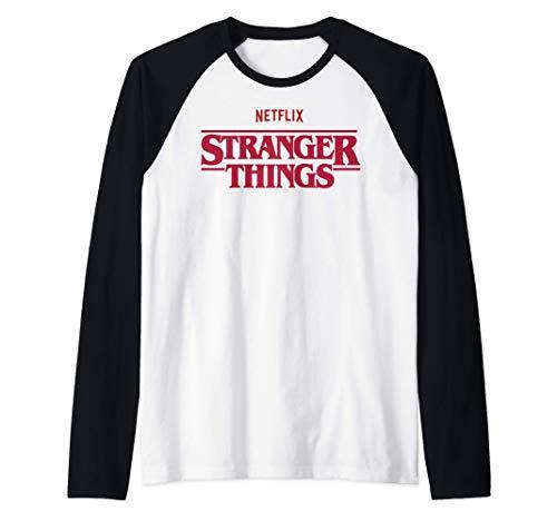 Stranger Things Netflix Logo Camiseta Manga Raglan