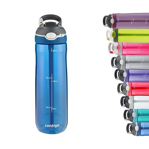 Contigo Ashland Autospout, robuste BPA-freie Trinkflasche, leichte Reinigung in der Spülmaschine, einfaches trinken auf Knopfdruck