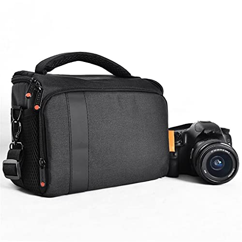 RYSF Bolsa De Cámara Digital DSLR, Bolsa De Hombro Impermeable, Funda para Cámara De Video para Canon Nikon Sony, Bolsa para Lentes, Bolsa para Fotografía, Bolsa De Fotos (Color : Black)