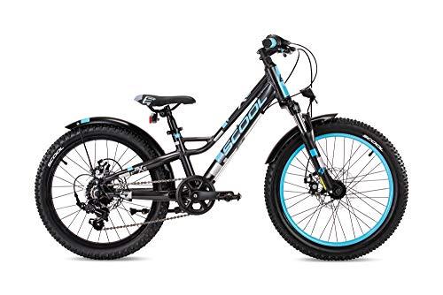 S'COOL faXe 20 Zoll 7-Gang Kettenschaltung - Darkgrey/Blue #6285 Kinderfahrrad Kinderrad Jugendrad 2020