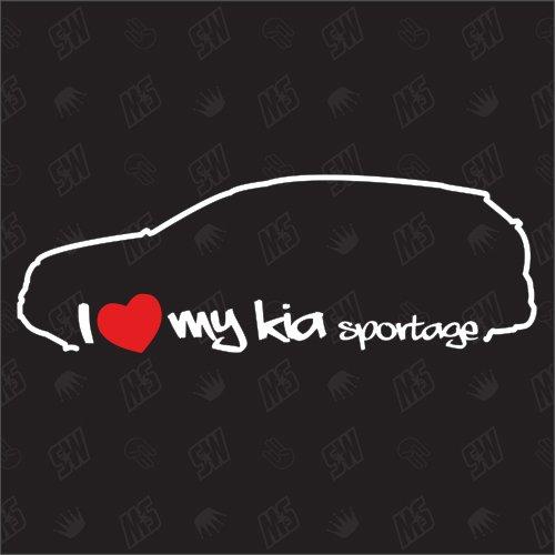 speedwerk-motorwear I Love My Sportage SL - Sticker für Kia, Baujahr 10-15, Tuning, Sticker, Auto, Fan, Aufkleber