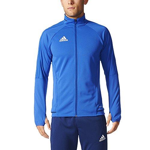 Adidas Tiro 17 Mens Soccer Training Jacket M Bold Blue-Black-White