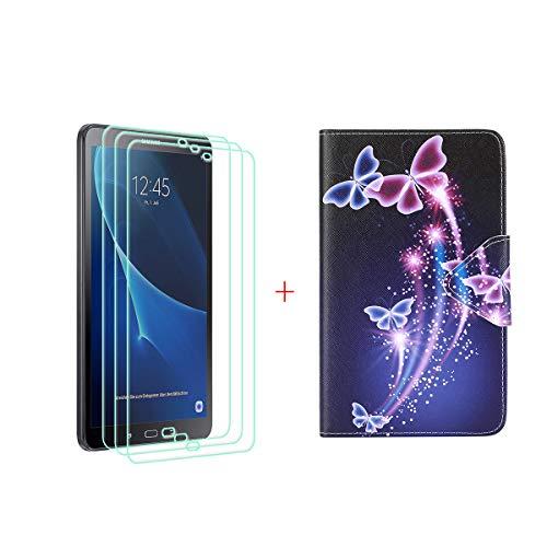 szjckj 3 Piezas Protector de Pantalla + PU Carcasa para Samsung Galaxy...