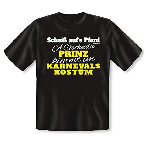 lustiges Karneval Faschings T-Shirt Herren Damen Shirt Karnevalskostüm Faschingsköstüm Verkleidung Kostüm Faschingsfeier Gr: L Farbe: schwarz
