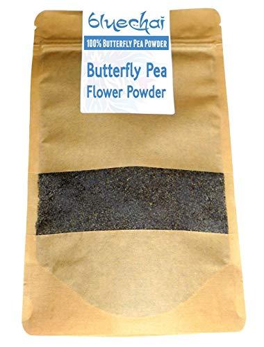 Bluechai Schmetterlingsblüte (Butterfly Pea Flower Powder) - Natürliche blaue Lebensmittelfarbe - 100% Bluechai - Gemahlene Schmetterlingsblüten. Perfekt für Getränke, Kuchen und kulinarische Genüsse