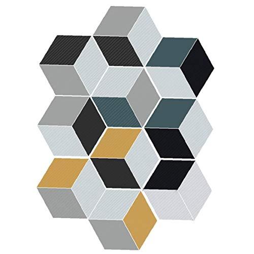 IUwnHceE 10pcs Teja Pegatinas Adhesivo PVC Geometría del azulejo Adhesivo de azulejo Protector contra Salpicaduras Vinilo Decorativo para Dormitorio Cocina Piso de cerámica y Azulejos de la Pared