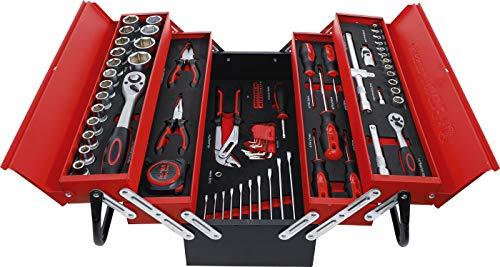 BGS Diy 6056   Metall-Werkzeugkoffer inkl. Werkzeug-Sortiment   86-tlg.