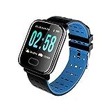 YDK A6 Smart Watch Men's Presión Arterial De Las Mujeres Monitor De Ritmo Cardíaco Impermeable IP67 Deportes Smartwatch para Android iOS Teléfono Watche,B