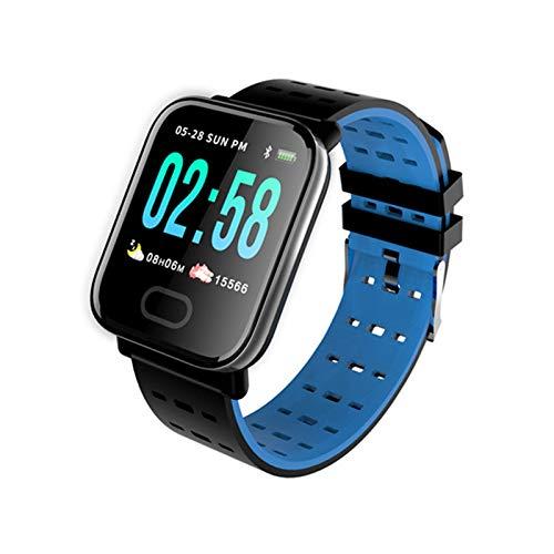 JXFF A6 Smart Watch Men's Presión Arterial De Las Mujeres Monitor De Ritmo Cardíaco Impermeable IP67 Deportes Smartwatch para Android iOS Teléfono Watche,C