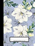 Composition Notebook: 110 Pages | College Ruled Composition | 8.5x11 in. | Magnolia Floral Flower Print