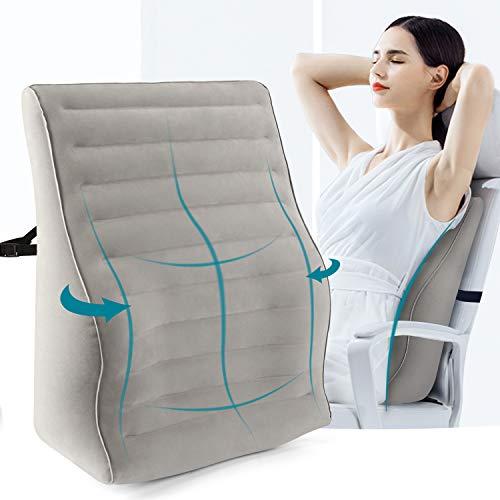 Maliton Inflatable Lumbar Support Pillow - Back Pillow Lumbar Cushion, Adjustable Firmness...