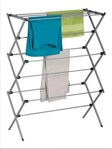 Amazon Basics Foldable Laundry Rack for Air Drying Clothing - 41.8 x 29.5 x 14.5, White