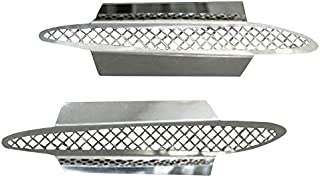 Corvette Side Vent Grilles Laser Mesh 2Pc Polished 2005-2013 C6 only
