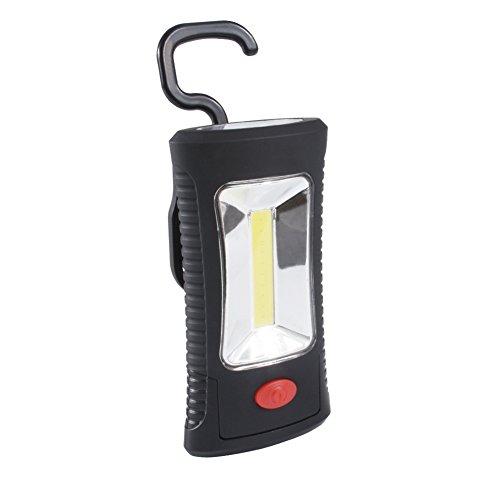ZUOAO 2 in 1 Lampada da Lavoro Portatile COB + 3 LED, Multifunzionale Luce di Lavoro con Gancio e Calamita, 360° Rotazione, Alimentata da Batterie per Auto/ Garage/Officina / Giardino / Pesca/ Camping