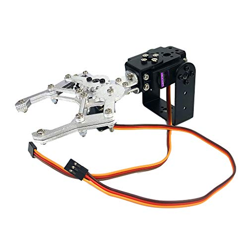 menolana DIY 2-Dof Robotic Arm, Programmable Mechanical Manipulator Arm Claw Kits for Arduino, Intelligence Toys, Birthday Gift