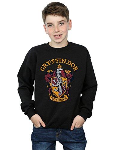 Harry Potter Jungen Gryffindor Crest Sweatshirt Schwarz 9-11 Years