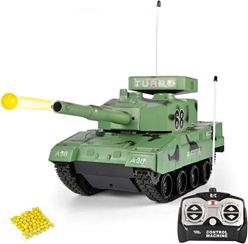 WANGCH Tanque de control remoto Carro de oruga Carro tanque de juguete...