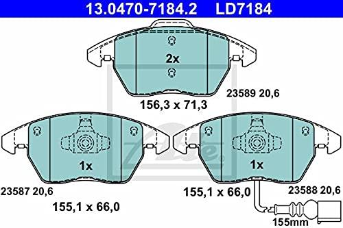 ATE 13047071842 juego de pastillas de freno de disco ATE Ceramic