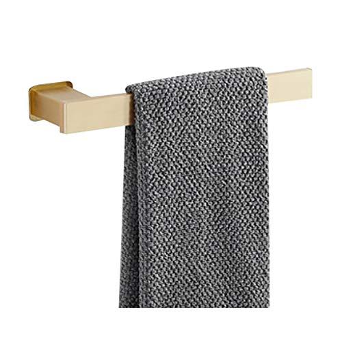 Space Aluminum Bathroom Towel Rack, Brushed Towel Shelf, Wall Mounted Towel Holder Rail Shelf, Storage Holder For The Bathroom - Gold (Size : A)