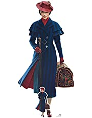 Star Cutouts SC1296 Mary Poppins Emily Blunt - Cartón de tamaño real de Disney (187 x 90 cm), diseño de Mary Poppins, multicolor