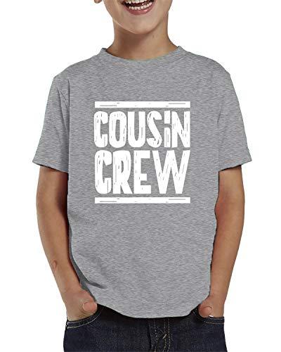 SpiritForged Apparel Cousin Crew Toddler T-Shirt, Light Gray 3T
