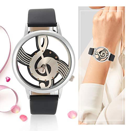 Reloj de cuarzo liso, reloj de pulsera, cuarzo de tiempo preciso para hombre para mujer(black)