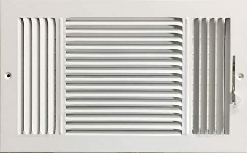 HBW 16 x 8 Duct Opening Size 3 Way Stamped Face Steel Ceiling sidewall Air Supply Register Vent product image