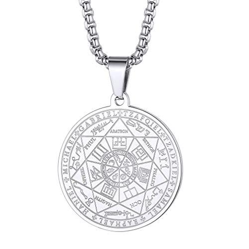 FaithHeart Médaille Talisman 7 Archanges,Collier Occulte Amu