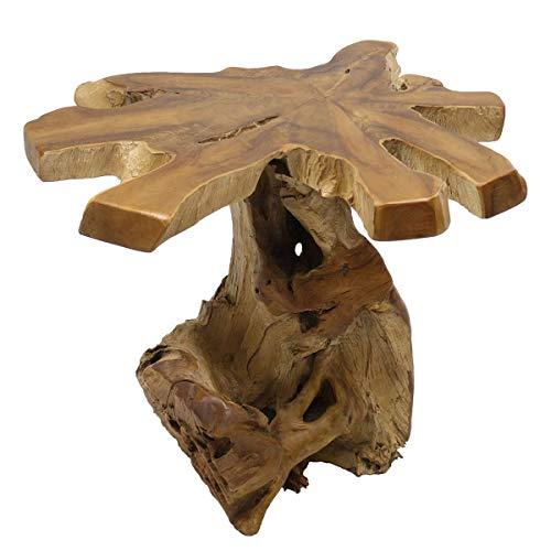 Oriental Galerie Wurzelholz Tisch Couchtisch Holz-Tisch Teakholz Blumentisch Massiv Designer Unikate Serie Natur 60 cm