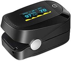 Haofy Oxímetro de Pulso, Pulsioxímetro de Dedo Monitor de Frecuencia Cardíaca y la Saturación de Oxígeno en la Sangre...