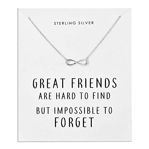 Philip Jones Sterling Silver Infinity Friendship Quote Necklace