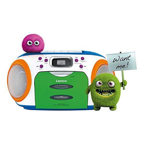 Radio CD Portátil LENCO SCR-970 Infantil, CD, Cassette, Radio FM