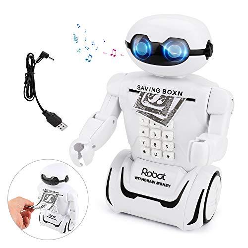 Sparschwein für Kinder Bestcool Spardose mit Passwort Sparschwein Roboter mit Tischleuchte, Smart Voice Prompt für Kinder bank Piggy Bank