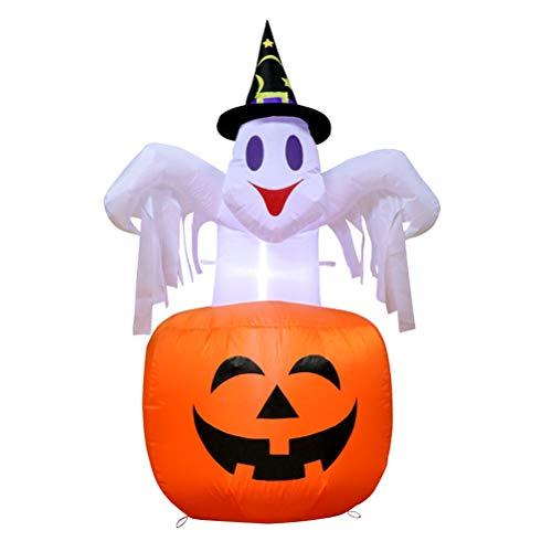 Nargut aufblasbare Kürbisse Ghost, 1,5 m White Ghost aufblasbare Kürbis Halloween Inflatables Home Familie außerhalb Dekoration