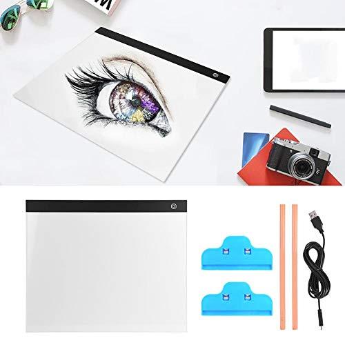 A3 Caja de luz de trazado, 3 niveles de atenuación LED Tablero de trazado de luz Tablero de dibujo compacto Tablero de pintura Tablero...